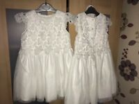 Girls White Lace Dresses