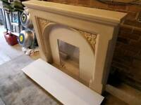 Fireplace and marble hearth