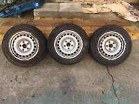 "VW T5 16"" tyres and rims with centre caps"