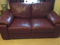 leather sofas . 1 x 3 seater and 1x 2 seater