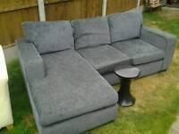 Corner sofa & boudoir cupboard & habitat stool