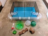 Large Hamster Cage & Accessories