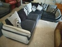 Grey Corner sofa Couch in VGC, Comes in 3 sections DELIVERY POSS