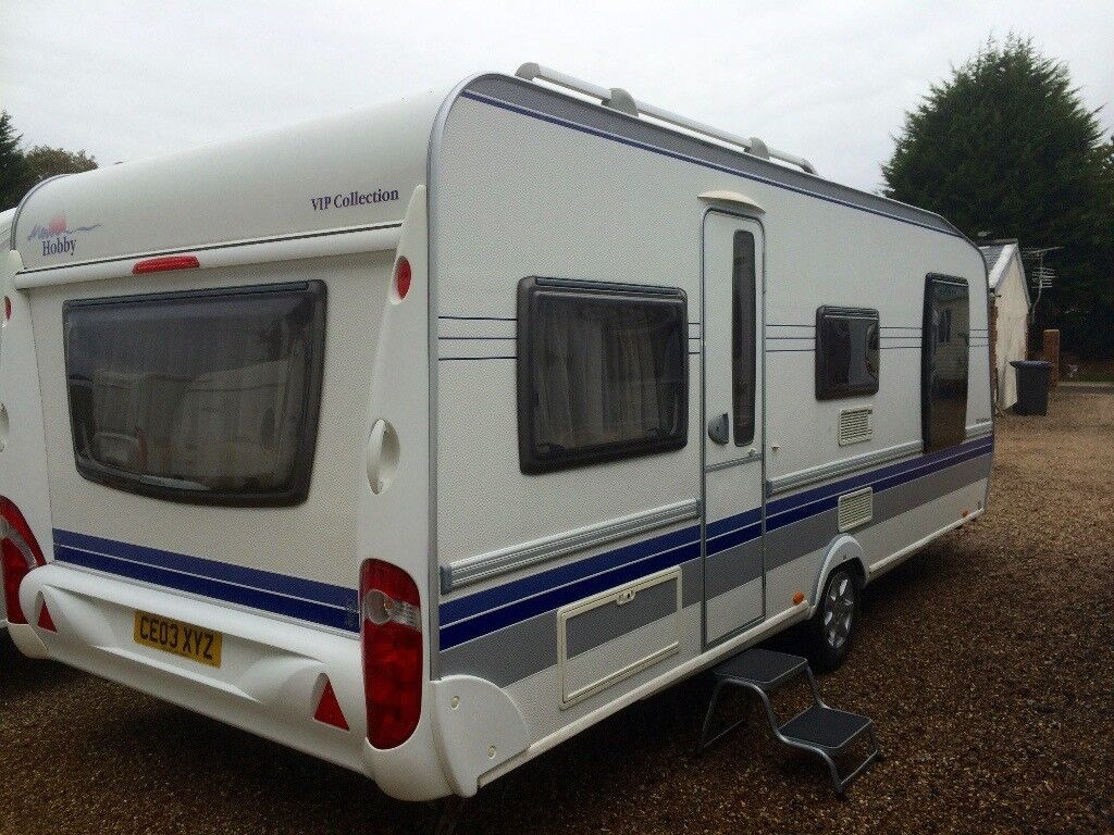 140fd6a05a Hobby Caravan 570 Vip Collection (2008) Island Bed. Full awning. Like  tabbert Fendt