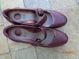 Pair of Clarks Air walk cushion wedge shoes size 6