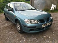 2001 NISSAN ALMERA E MOTED PX TO CLEAR LOW MILEAGE