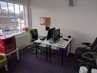 Office Space to Rent - One person Desk Space off the Old Ford A12 exit - Desk Space Hackney Wick