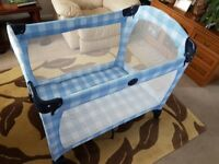 GRACO folding, children travel cot bed with mattress
