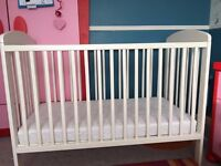 marks and spencer m&s cot with high quality mattress and cover