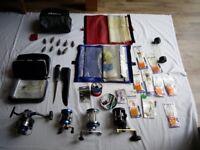 Sea Fishing Equipment - Reels - Hooks - Knife