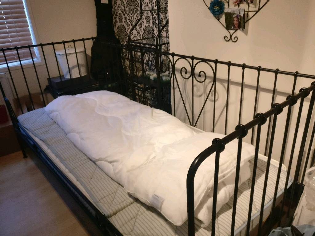 Black Cast Iron Single Bed Day