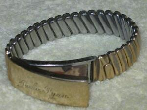 NEAT OLD VINTAGE MAN'S I.D.BRACELET with EXPANDIBLE STRAP[1954]