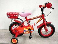 "(2175) 12"" APOLLO Boys Girls Kids Bike Bicycle+STABILISERS Age: 2-4, 85-100cm"