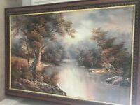 Oil Painting- framed Cafeiri