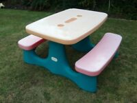Little Tikes Children's Outdoor Picnic Table and Bench