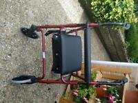 Rollator 4 wheeled walker
