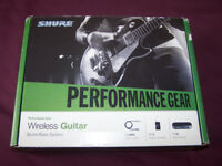 Shure PG14 Performance Gear Wireless Guitar / Bass System / As New!