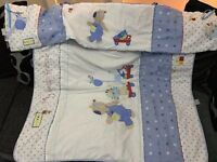 Boys cot bumber & quilt