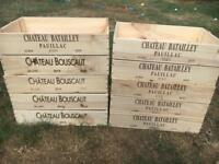 Wooden wine boxes / crates