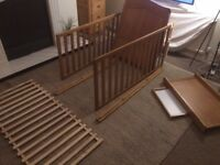 Babys cot 1400mm x 700mm with changing table