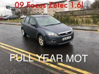 £1895 2009 Focus Zetec 1.6l* like corsa fiesta cheap astra golf mondeo vectra insignia note cheap