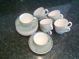Set of Poole Pottery Cups and Saucers