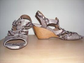 Clarks Snakeskin Sandals Size 6
