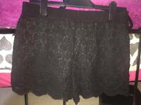 New Look Women's Black Lace Shorts