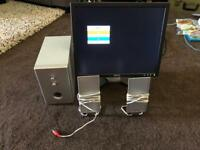 """17""""VGA monitor with leads+ PC sound system with subwoofer"""