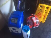 rug doctor x3 machine and spot cleaning machine plus cleaning equipment and hover