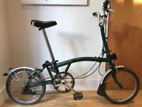 Brompton M3L folding bike - British Green