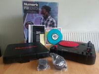 Numark PT01 Scratch + Jesse Dean Fader JDDX2RS + Richie Ruftone Vinyl + Cable