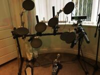 ROLAND TD-7 ELECTRONIC DRUM KIT, COMPLETE/BOXED, FOR SALE OR SWAP FOR ACOUSTIC KIT ROLAND