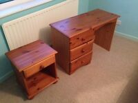 Desk and Bedside or Office Small Table