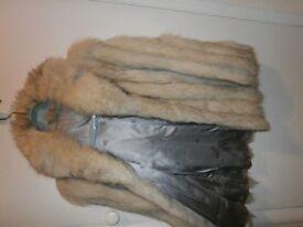 ladies blue fox fur jacket size 12