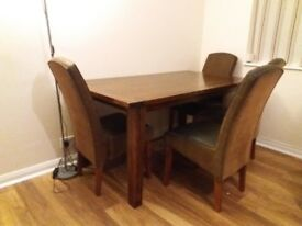 Dining Table and chairs - Solid wood from House of Fraser