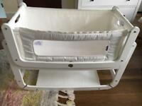 SnuzPod2 3 in 1 Bedside Crib - White