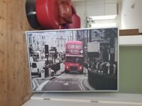 Ikea large framed picture London Bus - very good condition