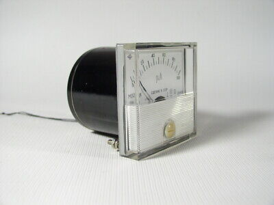 Russian Analog Dc 0-100 Micro Amper Meter M282k 60x60 Mm. 1984 Ussr.