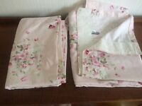 Floral light pink curtains
