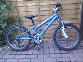 Girls Specialised Hotrock bicycle 20 inch wheels. Good condition, some small scrapes, 6 speed