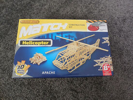Brand new Sealed Match Construction Helicopter Apache set