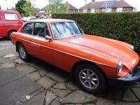 1978 MGB GT. Low Mileage. £3,950o.n.o.