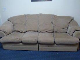 Large sofa & armchair