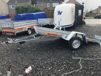 BRAND NEW MODEL 10 X 5.6 SMART CAR TRANSPORTER/ QUAD TRAILER SINGLE AXLE BRAKED 1300KG
