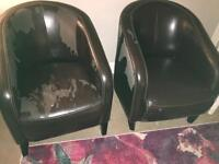 Two bucket/tub chairs