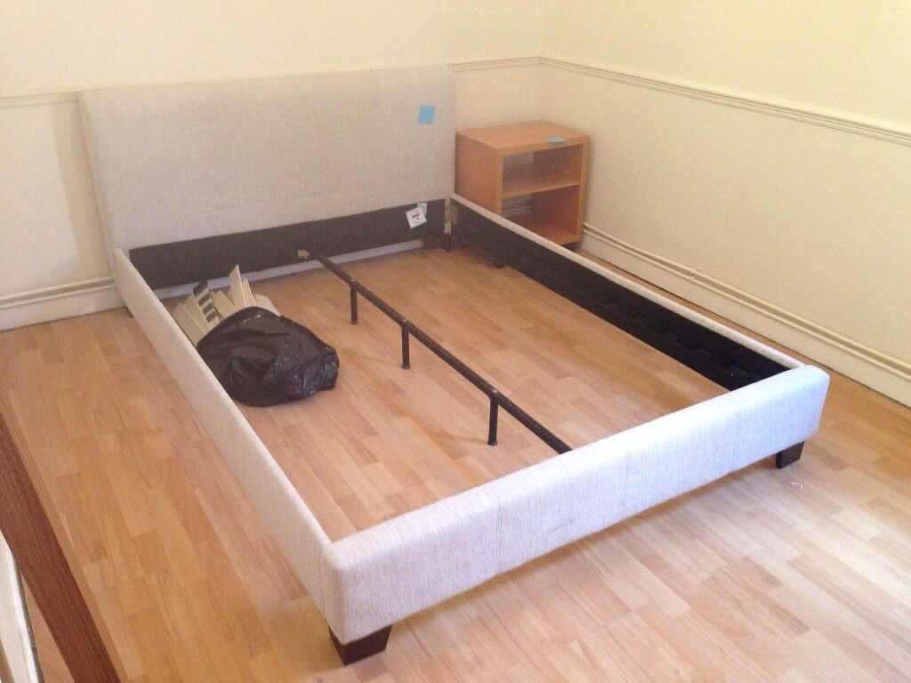 King Bed Framein Colchester, EssexGumtree - Moving on Friday 26th May all needs to be sold by then reasonable offers accepted. Kingsize Bed Frame, Fabric Finish, Easy to transport breaks into 5 sections, quick assembly Selling due to relocation. Priced to sell reasonable offers considered....