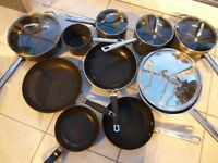 Collection of saucepans