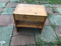 SMALL PINE BEDSIDE CABINET
