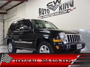 2006 Jeep Liberty Limited / Low Kms./ Leather / Roof / 4x4